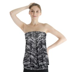 Dark Skin Texture Pattern Strapless Top