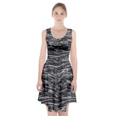 Dark Skin Texture Pattern Racerback Midi Dress
