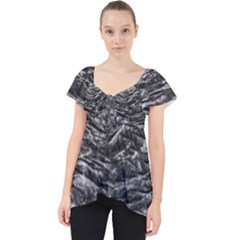 Dark Skin Texture Pattern Lace Front Dolly Top