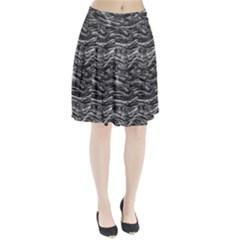 Dark Skin Texture Pattern Pleated Skirt