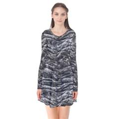 Dark Skin Texture Pattern Flare Dress