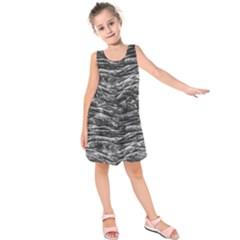 Dark Skin Texture Pattern Kids  Sleeveless Dress