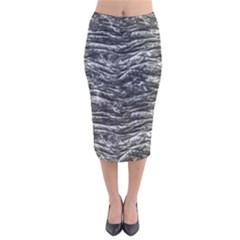 Dark Skin Texture Pattern Velvet Midi Pencil Skirt