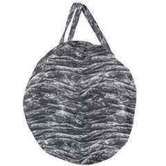 Dark Skin Texture Pattern Giant Round Zipper Tote