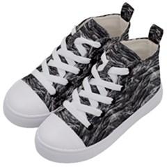Dark Skin Texture Pattern Kid s Mid-Top Canvas Sneakers