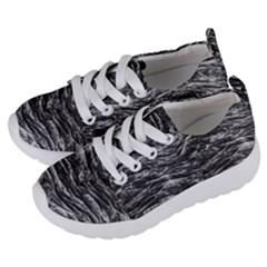 Dark Skin Texture Pattern Kids  Lightweight Sports Shoes