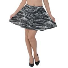 Dark Skin Texture Pattern Velvet Skater Skirt