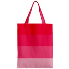 Pink Scarlet Gradient Stripes Pattern Classic Tote Bag