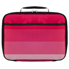 Pink Scarlet Gradient Stripes Pattern Full Print Lunch Bag