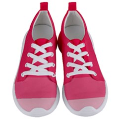 Pink Scarlet Gradient Stripes Pattern Women s Lightweight Sports Shoes