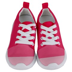 Pink Scarlet Gradient Stripes Pattern Kids  Lightweight Sports Shoes