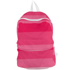Pink Scarlet Gradient Stripes Pattern Foldable Lightweight Backpack