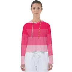 Pink Scarlet Gradient Stripes Pattern Women s Slouchy Sweat