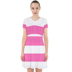 Horizontal Pink White Stripe Pattern Striped Adorable In Chiffon Dress