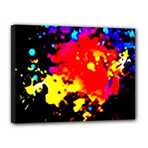 Colorfulpaintsptter Canvas 16  X 12