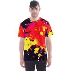Colorfulpaintsptter Men s Sports Mesh Tee