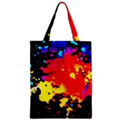 Colorfulpaintsptter Zipper Classic Tote Bag