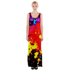 Colorfulpaintsptter Maxi Thigh Split Dress by flipstylezdes