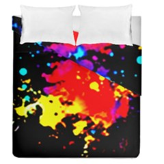 Colorfulpaintsptter Duvet Cover Double Side (queen Size)