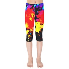 Colorfulpaintsptter Kids  Capri Leggings