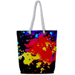 Colorfulpaintsptter Full Print Rope Handle Tote (small)