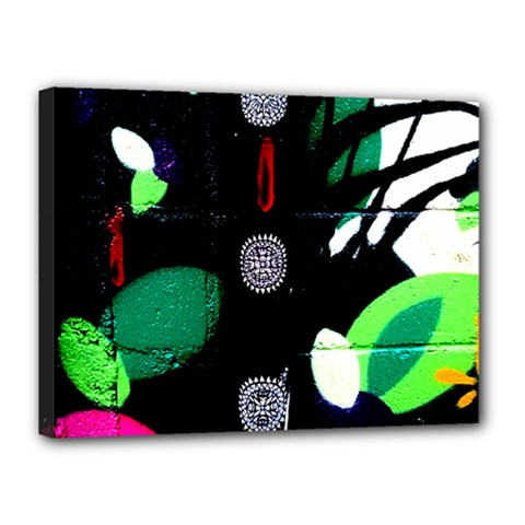 Graffiti On Green And Pink Designs Canvas 16  X 12