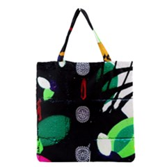 Graffiti On Green And Pink Designs Grocery Tote Bag