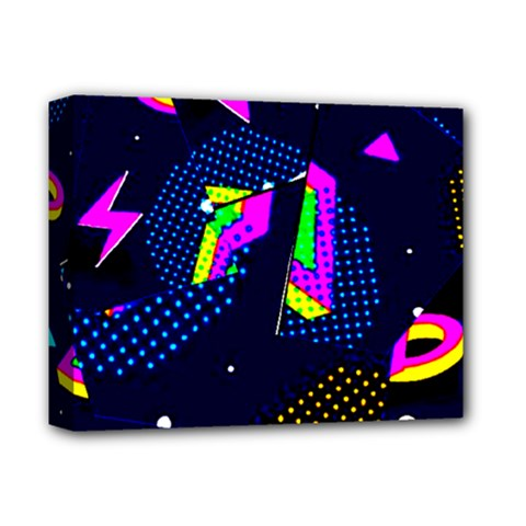Background Designs Cool Zig Zags Deluxe Canvas 14  X 11