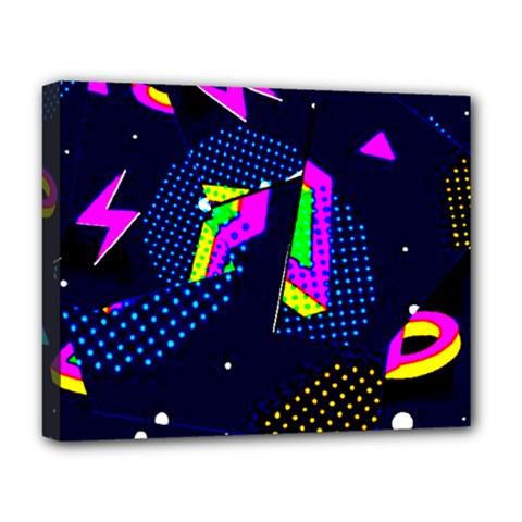 Background Designs Cool Zig Zags Deluxe Canvas 20  X 16