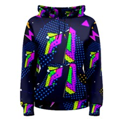 Background Designs Cool Zig Zags Women s Pullover Hoodie