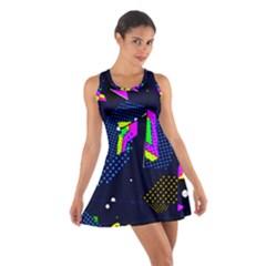 Background Designs Cool Zig Zags Cotton Racerback Dress