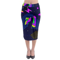 Background Designs Cool Zig Zags Midi Pencil Skirt