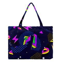 Background Designs Cool Zig Zags Medium Tote Bag