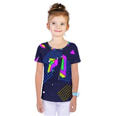 Background Designs Cool Zig Zags Kids  One Piece Tee