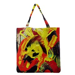 Fish And Bread1/1 Grocery Tote Bag by bestdesignintheworld