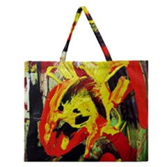 Fish And Bread1/1 Zipper Large Tote Bag
