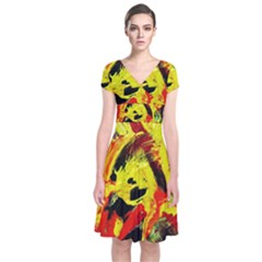 Fish And Bread1/1 Short Sleeve Front Wrap Dress