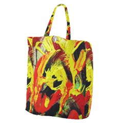 Fish And Bread1/1 Giant Grocery Zipper Tote by bestdesignintheworld