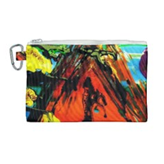 Camping 5 Canvas Cosmetic Bag (large) by bestdesignintheworld