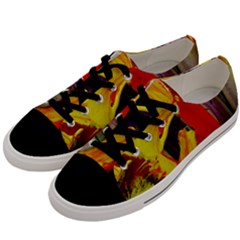 Fish And Bread1/2 Men s Low Top Canvas Sneakers by bestdesignintheworld