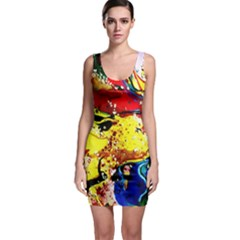 Yellow Roses 3 Bodycon Dress
