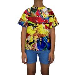 Yellow Roses 3 Kids  Short Sleeve Swimwear