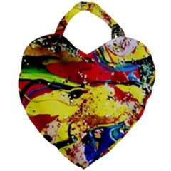 Yellow Roses 3 Giant Heart Shaped Tote
