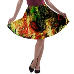 Sunset In A Desert Of Mexico A Line Skater Skirt
