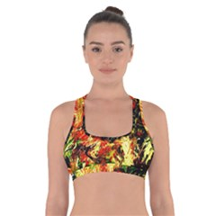 Sunset In A Desert Of Mexico Cross Back Sports Bra