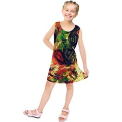 Sunset In A Desert Of Mexico Kids  Tunic Dress