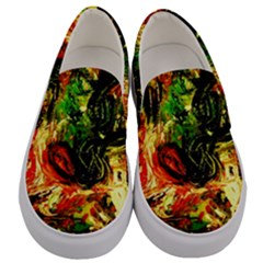 Sunset In A Desert Of Mexico Men s Canvas Slip Ons