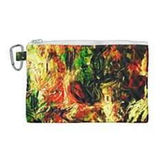 Sunset In A Desert Of Mexico Canvas Cosmetic Bag (large) by bestdesignintheworld