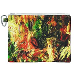 Sunset In A Desert Of Mexico Canvas Cosmetic Bag (xxl) by bestdesignintheworld