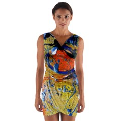 Lunar Eclipse 6 Wrap Front Bodycon Dress